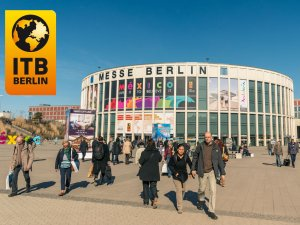 Berlin ITB Fuarı girişi