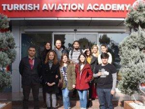 ABÜ öğrencileri THY Havacılık Akademi'de