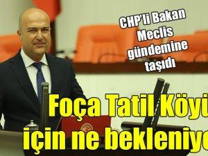 CHPİzmir MilletvekiliBakan:Foça Tatil Köyü neyi bekliyor?
