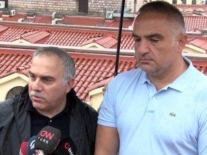Bakan Ersoy, Kapalıçarşı'da: Çatıdan herhangi bir sızma olmadı