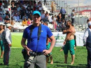 Alman fotoğrafçının güreş tutkusu