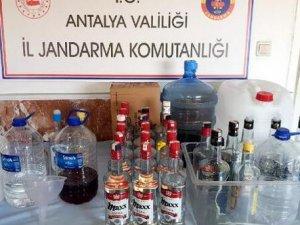 Otelde sahte içki imalathanesine baskın