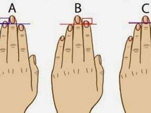 Erkeklerin parmakları kişilikleri hakkında konuşuyor