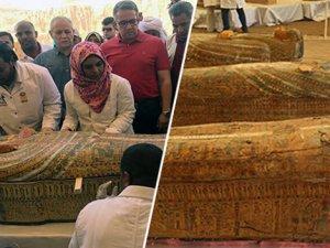 Mısırlı arkeologlar Luksor'da 20 eski tabut buldu