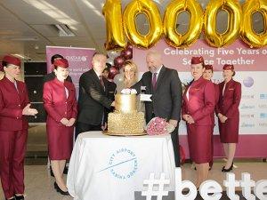 Qatar Airways'in 1 milyonuncu yolcusu törenle karşılandı