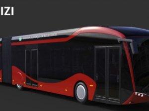 Elektrikli otobüslerin rengi kırmızı olacak