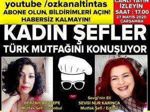 TurkiyeTurizm TV'de Kadın Şefler var