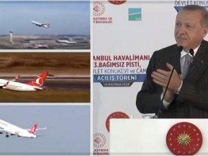 Cumhurbaşkanı Erdoğan İstanbul'da 3'üncü pisti açtı