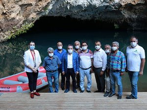 Başkan Böcek: Altınbeşik Mağarası'nı dünya turizmine kazandıracağız