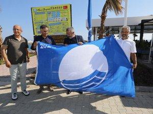 Manavgat Belediyesi'nin plajları Mavi Bayrak aldı