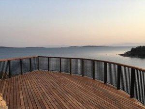 Cunda Adası'na seyir terası yapıldı