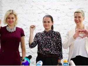 Belarus'ta üç kadın aday başkanı indirmek için birleşti