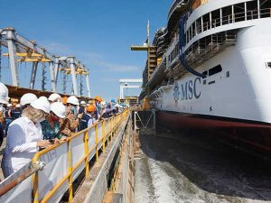 MSC Cruises en uzun gemisini denize indirdi
