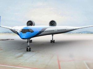 """Jumbo Jetlere yakıt tasarrufu sağlayacak """"Flying-V"""" ilk kez uçtu"""