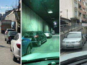 Milyonlar harcanan tünel ve köprü, otoparka döndü