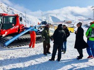 Erzurum'da snowboard için özel pist yapılıyor