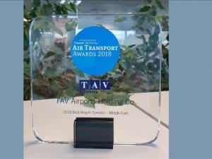 """TAV'a """"Orta Doğu'da en iyiişletmeci"""" ödülü"""