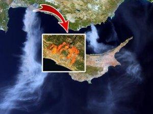 Haber ajansları Türkiye'deki  yangını uydudan canlı yayınladı