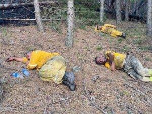 Manavgat'ta iki orman işçisi araç içinde yanarak can verdi