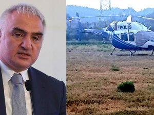 Turizm Bakanı Ersoy'un bulunduğu helikopter, acil iniş yaptı