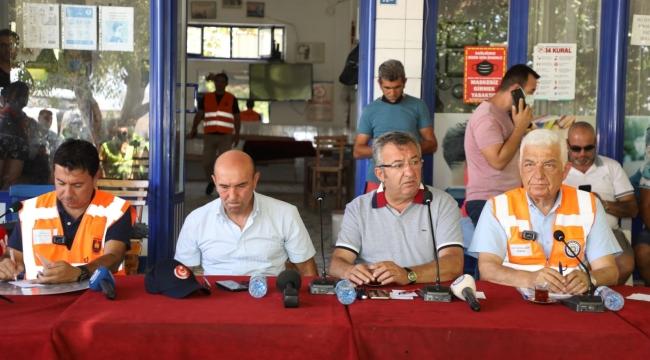 Belediye başkanları Bodrum'da, Muğla yangınlarını açıkladılar