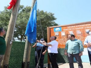 KocaeliKovanağzı Plajı'na mavi bayrak verildi