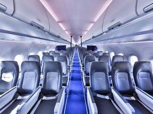 Airbus'ın yeni tek koridorlu Airspace kabini, ilk kez Lufthansa'da
