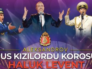 Kızıl Ordu Korosuve Haluk Levent, Manavgat'ın yaraları için sahnede!