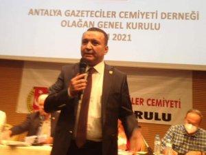 Antalya Gazeteciler Cemiyeti yeni Başkanı İdris Taş oldu