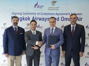Oman Air ile Bangkok Havayolları kod paylaşımı