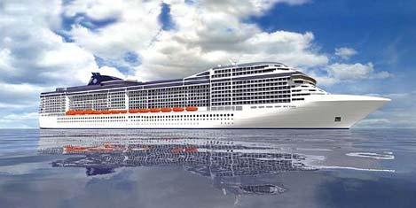 MSC Splendida denize indi
