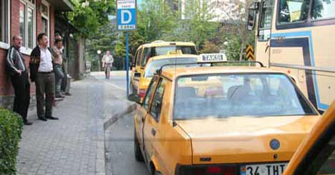 Takside 'tek' tarife %25 zamlı