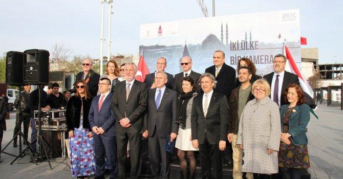 Macaristan -Türkiye fotoğrafları Taksim'de sergilendi