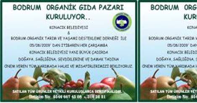 Bodrum'da organik gıda pazarı