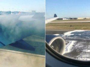ABD'de yine yolcu uçağı alev aldı
