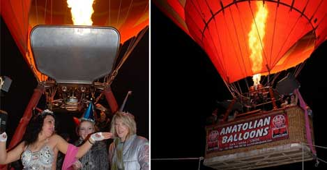 Yeni yıla balonla havada girdiler