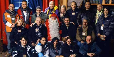 Turizmciler Noel Baba ile
