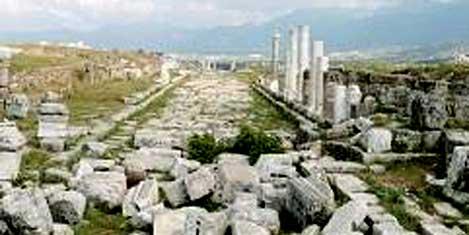 Antik çağın Suriye Caddesi