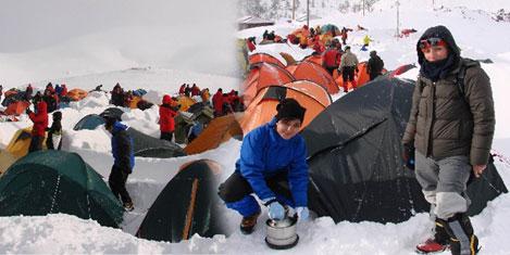 Zigana'ya karda kamp kurdular