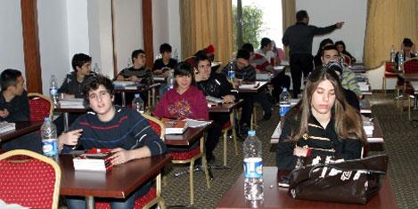 5 yıldızlı otelde sınava hazırlık