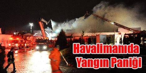 Atatürk Havalimanı'nda yangın