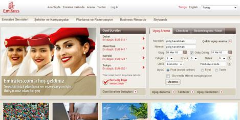Emirates.com.tr'den indirimler