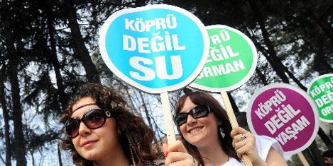 Boğaz'a 3. köprüyü protesto