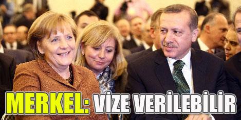 Merkel,  vize kapısını araladı
