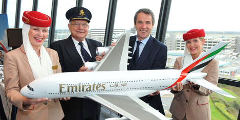 Emirates Manchester'e uçuyor