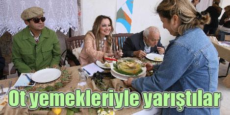 Festivalde ot yemekleri yarıştı