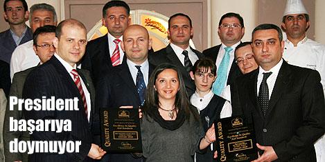 President Hotel'e kalite ödülü