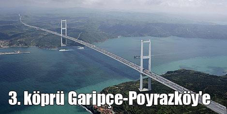 3. köprü Garipçe-Poyrazköy'e