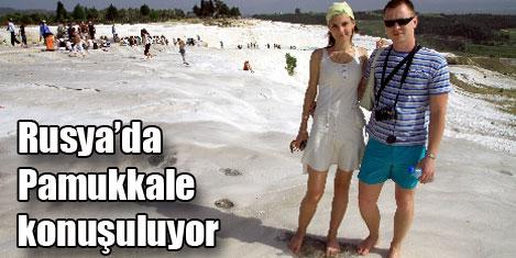 Pamukkale için Türkiye'ye geldiler