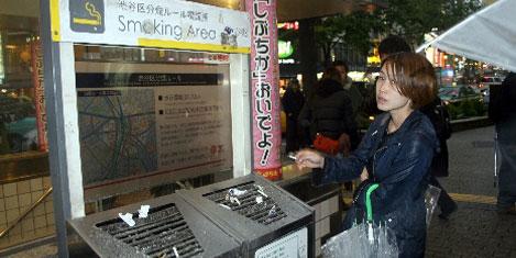 Japonya'da sokakta sigara yasak